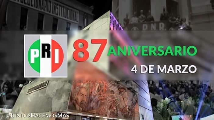 PRI aniversario 87